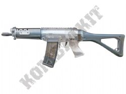 SIG 552 Commando Rifle Official Replica Airsoft BB Gun Black and Clear